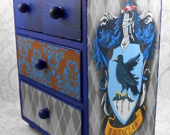 Custom Ravenclaw Blue Harry Potter Stash Jewelry Box