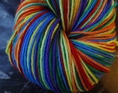 Rainbow Flag Self Striping Superwash Merino Sock Yarn