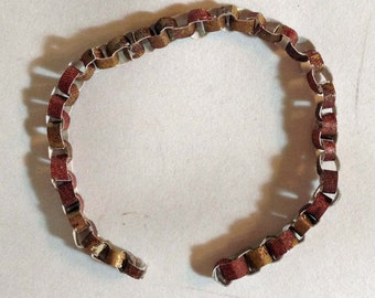 Tiny Reddish Brown and Burnished Gold Chain Garland