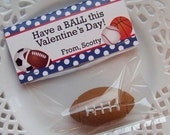 Printable Valentine Sports Balls Large Bag Toppers