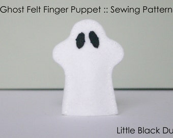 Pattern: Ghost Felt Finger Puppet