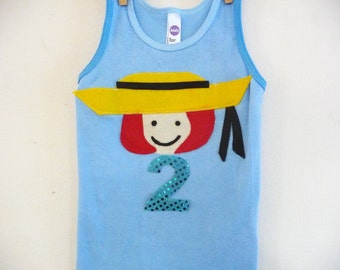 MADELINE Birthday Tank Top- Madeline tshirt- Personalized -  Infant sizes, 2t, 4t, 6, 8 and up