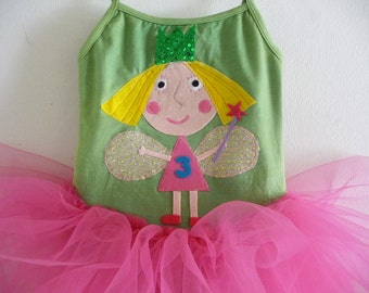 BEN AND HOLLY Little Kingdom Tutu - Holly Tutu - Personalized Tutu - Fairy  Birthday Tutu - Sizes 18/24 mo,  2/4 yrs,  4/6 yrs, 6/8 and up