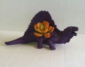 Purple Dinosaur Planter for Succulent Plants Fun Office Decor