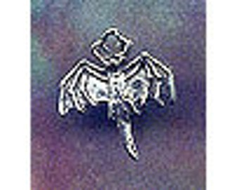 Flying Bat Sterling Silver Jewelry Charm Bat01