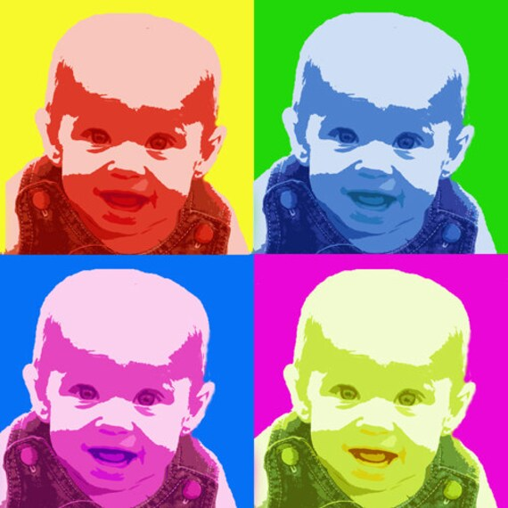 Custom Pop Art -One Photo in Andy Warhol Style Personalized for Gift ...