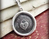 Heart Padlock Wax Seal Necklace...... Thou Hast the Key to my Heart