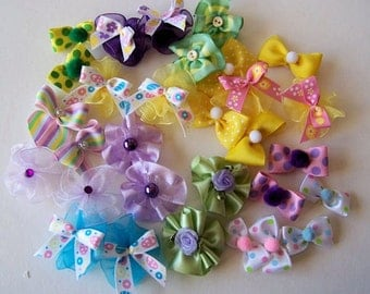 Groomer Dog Bow Grab Bag - 25 bows