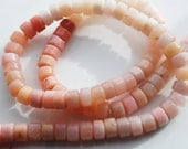 Half / Full Strand, Pink Peruvian Opal Heishi Beads, 5x3MM