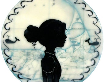 Print - Limited Edition - Nantucket Sea Captains Daughter - mixed media, encaustic