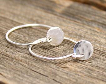 Tiny Drop Earrings in Sterling Silver