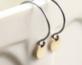 Tiny Drop Earrings in 14k Gold and Sterling Silver