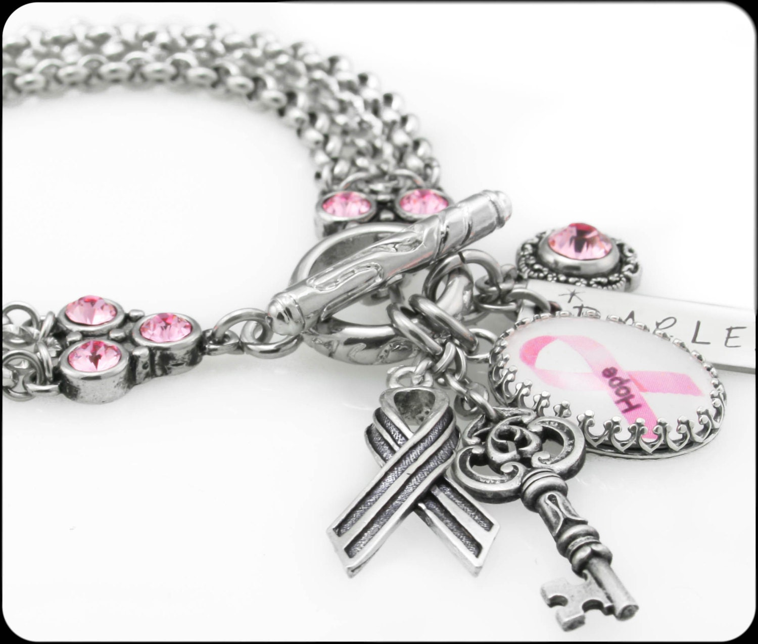 Breast Cancer Awareness Charm Bracelet Breast By
