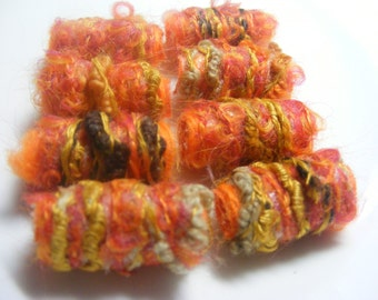Textile Art Bead  When she goes to work today, we're taking over her studio. We're going to be artists for a day. Fiber textile art bead