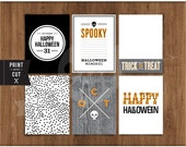 "3""x 4"" Printable Happy Halloween Journal Cards by Studio Pebbles"