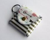 SALE Coin Purse Keychain Wallet, Arrow Wallet, Keychain, Stripe Wallet, Vinyl Wallet, Snap Wallet, Change Purse, Coin - Aim