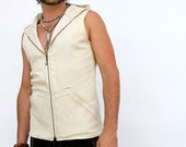 Pacha Play White Altair Vest- heavyweight stretch twill-