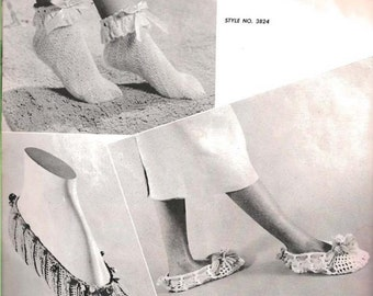Knit Anklet Slippers (TOP) (BernGif)