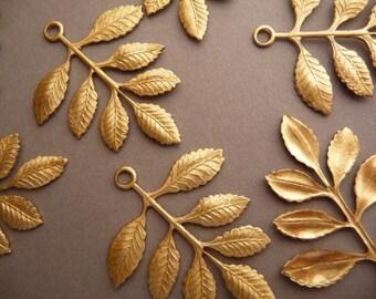 4 Brass Leaf Branch - Beautiful Detail