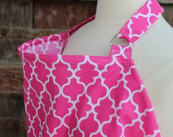 Nursing Cover-Pink Lattice-Free Shipping When Purchased With A Wrap