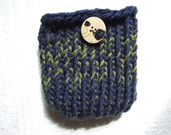 Navy and green   Mini  Bag