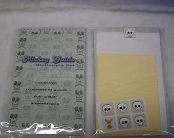 Skully Skull Stationery Set novelty note paper card stickers envelope