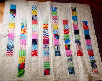 Eco friendly baby quilt, bamboo colorful baby quilt MADE TO oRDER