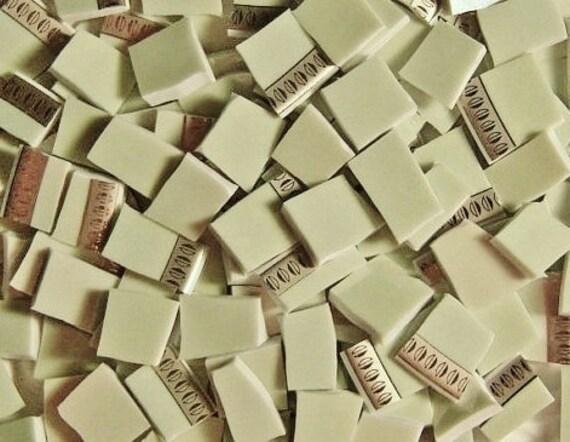 Mosaic Tiles-Green Tea /Gold --100 tiles
