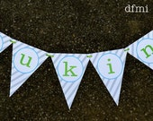 Fun STRIPE NAME BANNER large reusable Room, Party, Wedding or Shower Decoration 2 dollars per letter