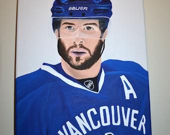 Ryan Kesler Vancouver Canucks Team USA Painting
