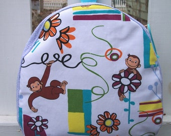My Carrie Toddler to Teen Backpack/Purse/Bag made with Curious George Fabric