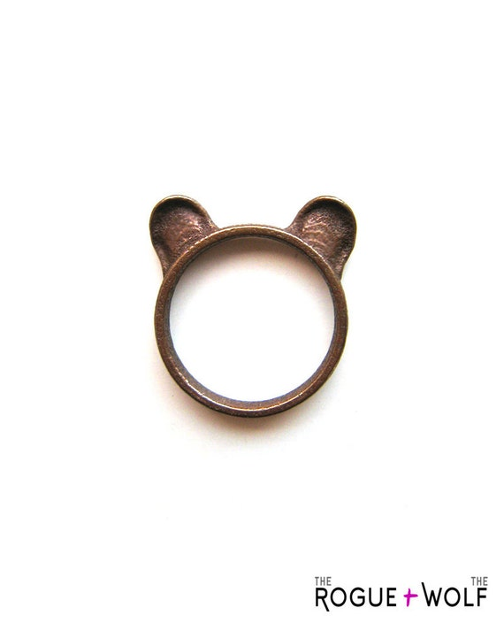 Bear Ears Ring in bronze - A bronze bear ears ring to adorn your hands