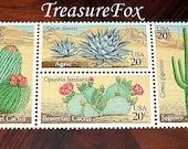 Vintage MINT 20 cent postage stamps .. Cactus Plants Set of 20