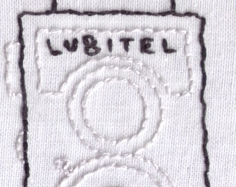 Vintage Lubitel Camera Hand Embroidery Pattern
