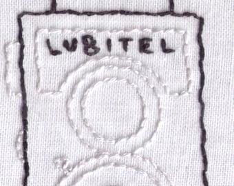 Camera Hand Embroidery Pattern, Vintage, Lubitel, Medium Format, Twin Lens, PDF