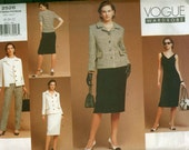 Misses Wardrobe Jacket, Dress, Top, Skirt & Pants Pattern Vogue 2526 Sewing Pattern Plus SIze 18-20-22 UNCUT