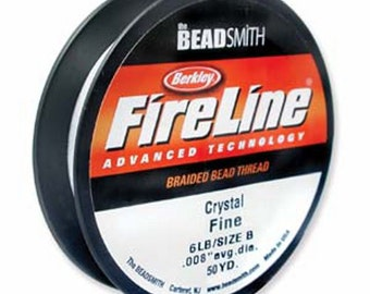 FIRELINE THREAD 125 Yards of 6 LB Crystal Clear