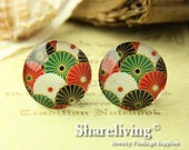 4pcs  25mm Handmade Photo Glass Cabs Cabochons -- BCH655E