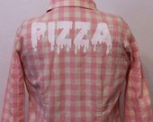 CUSTOM plaid dripping PIZZA flannel
