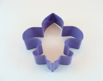 Purple Fleur de Lis 4. 5 inch Cookie Cutter