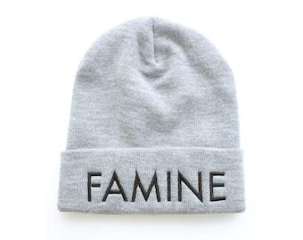 Grey Beanie, Slouchy Beanie, Embroidered Beanie, Knit Beanie, Beanie Hat, Toque, Norwegian Wood, iheartnorwegianwood, Made in Canada