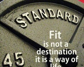 "weightlifting art sports art gym art bodybuilding photo Original Fine Art Photo with quote ""Fit is not a destination it is a way of life"""