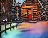 Original ACEO Winter Christmas Seasons by Elel
