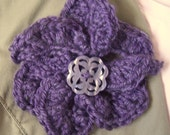 Clearance: Plum Blossom crochet flower brooch
