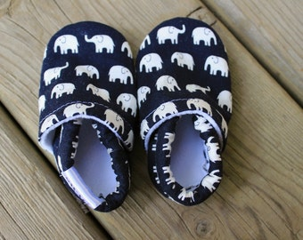 Baby Shoes Boy Girl SWAG Booties toddler infant newborn slippers shoes navy black white elephants grey pink blue green non slip soft soled