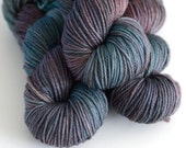 Charybdis - Hand Dyed Yarn - Worsted Weight - Superwash Merino Wool - Sea Green and Brown - Greek Mythology
