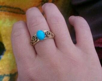 Vintage Turquoise Stone Ring
