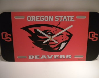Oregon State University........License Plate Clock