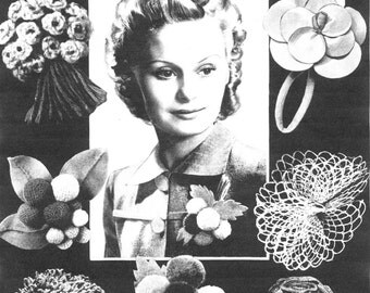 Vintage, A Variety of Buttonholes, Sewing Pattern, 1940/1950 (PDF) Pattern, Bestway 587