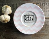 Sale - Kitchen Sign - Pink Chevron Modern Farmhouse - Fresh Egg Sign - Cottage Farm Sign - Cottage Kitchen - 40% OFF
